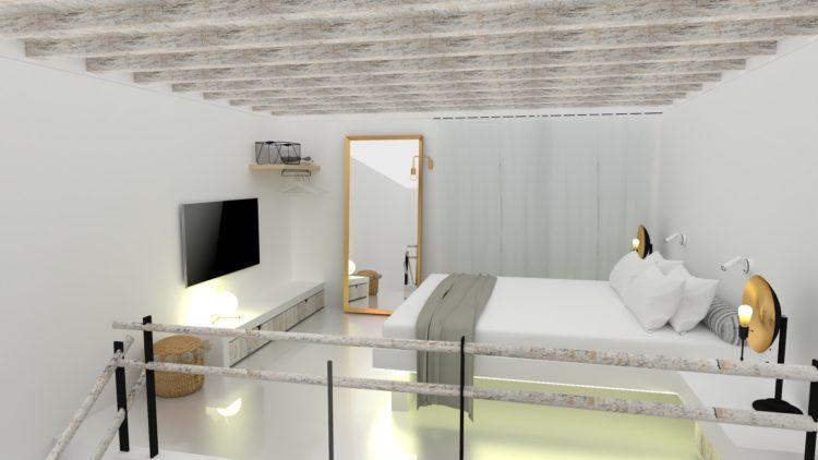 Mykonos Townhouse Duplex Deluxe Suite with Terrace