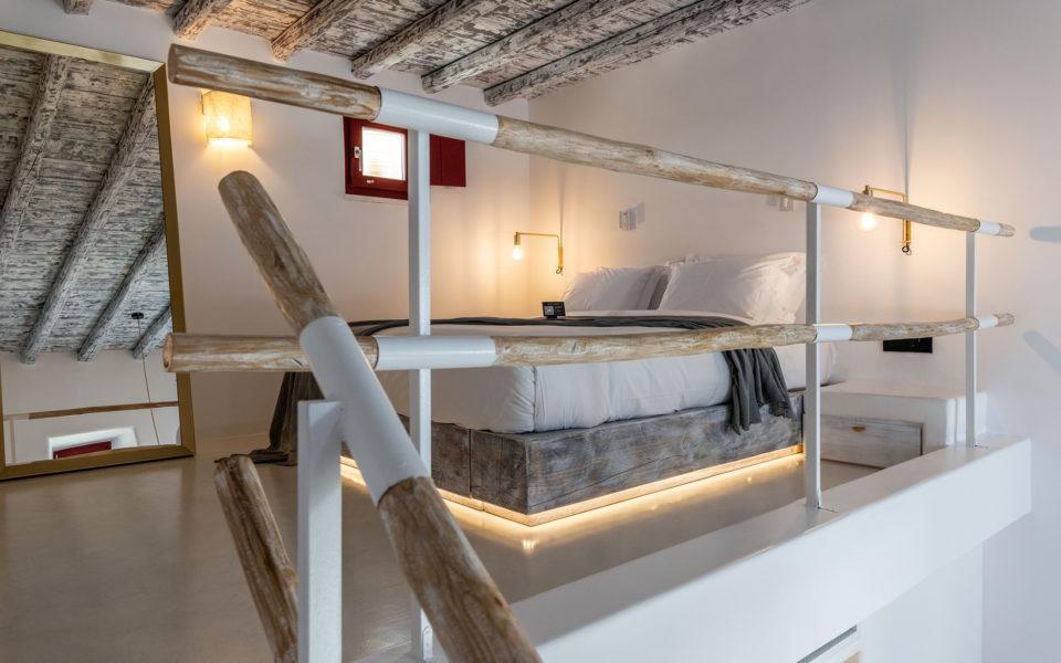 The TownHouse Mykonos Deluxe Duplex Bedroom