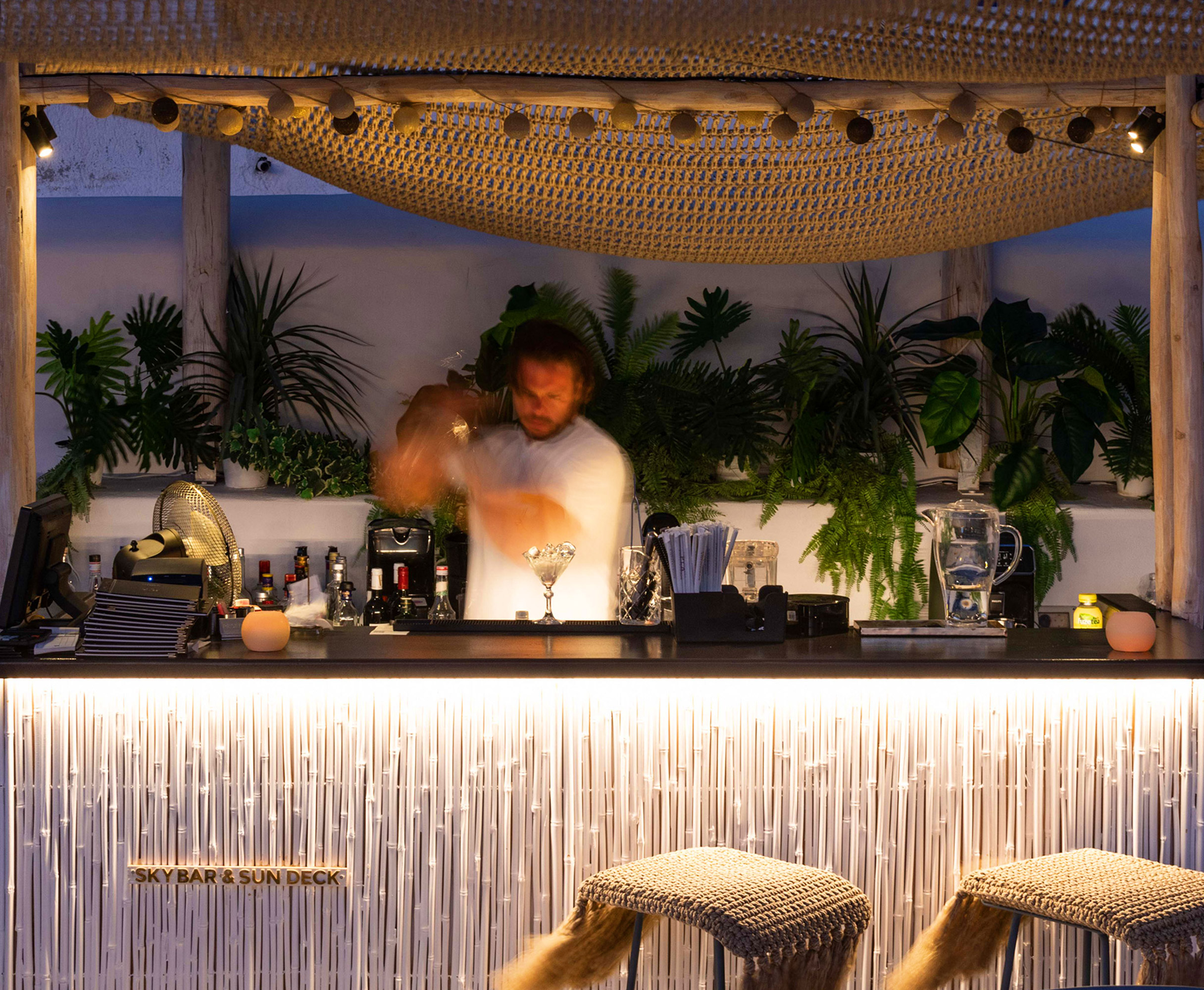 The TownHouse SKYBAR Roof top photo of bar tender